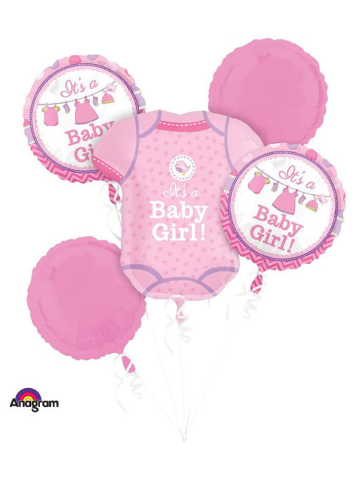 Bouquet Shower With Love Girl Balloon Bouquet