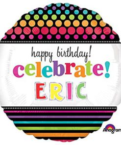 Party On Birthday Celebrate Personalized Balloon