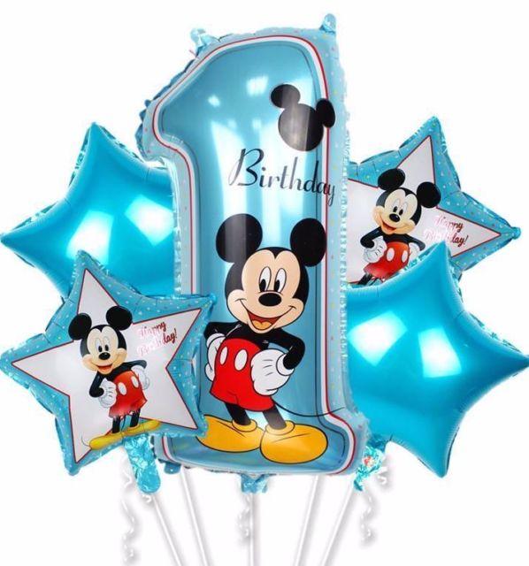 Bouquet Mickey 1st Birthday Balloon